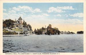 Thousand Islands New York~Hopewell Hall Pullmans And T.I Yacht Club~1920 PC