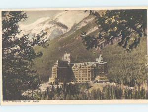 Unused Divided-Back HOTEL SCENE Banff Alberta AB B1684-22