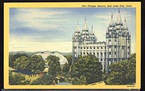 USA Postcard Mormon Temple Square Salt Lake City Utah