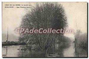 Postcard Old Crue of the Seine Boulogne Quai President Carnot