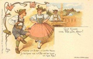 ALPINE ZITHER CLUB Mission Turn-Verein Hall SAN FRANCISCO German 1922 Postcard