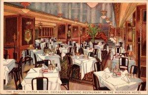 Boston Oyster House restaurant ~ Morrison Hotel ~ Chicago IL ~ artist signed