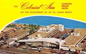 COLONIAL INN Miami Beach, Florida Resort Motel ca 1960s Vintage Postcard