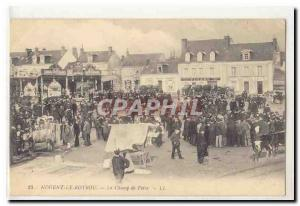 Nogent Rotrou Old Postcard The fairground (walking)
