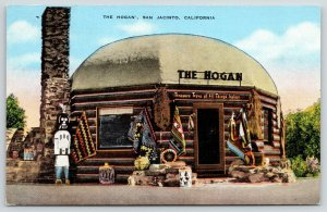 San Jacinto CA~The Hogan~Roadside Treasure Trove of All Things Indian~1940 Linen