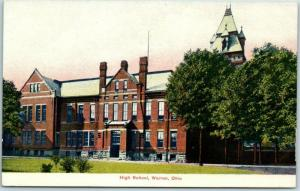 Warren, Ohio Postcard High School Building Front View c1910s Unused