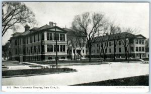 IOWA CITY, IA    STATE UNIVERSITY HOSPITAL  Photoette  1908   Postcard