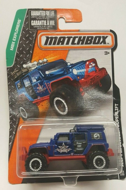 Matchbox Toy Car #119 Jeep Wrangler Superlift