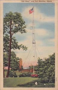 Old Glory Over Fort Sherodan Illinois