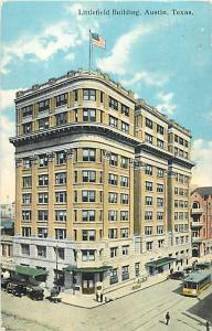Littlefield Building Austin Texas TX 1921 Divided Back