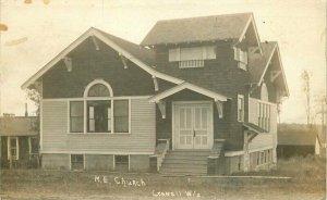 Cornell Wisconsin ME Church 1910 RPPC Photo Postcard 20-6401