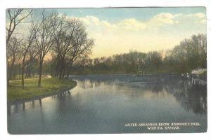 Scene of Little Arkansas River,Riverside Park,Wichita,Kansas,00-10s