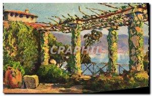 Old Postcard Cote D Azur Pergola on the Coast