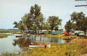 Angola Indiana Lake James Trailer Park at Bledsoe's Beach vintage pc ZE686259