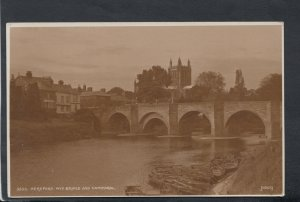 Herefordshire Postcard - Hereford - Wye Bridge and Cathedral    RS14585