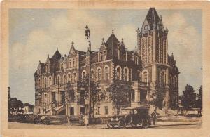 B82942 city hall regina sask car oldtimer canada front/back scan