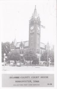 Iowa Manchester Delaware County Court House Real Photo