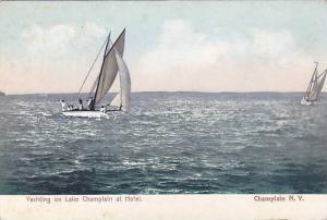 Yachting on Lake Champlain at Hotel, New York, 00-10