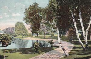 New Hampshire Concord Lower Pond In White's Park 1909