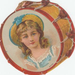 TC : Drum Girl , Darling's Musical Store , Providence , Rhode Island , 1890s