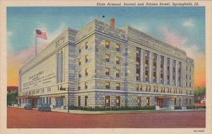 Illinois Springfield State Arsenal Second and Adams Street 1945 Curteich