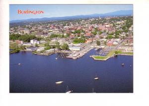 Aerial of Waterfront, Burlington, Vermont,