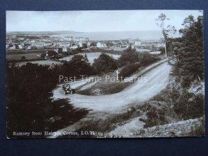 Isle of Man RAMSEY FROM HAIRPIN CORNER c1913 RP Postcard