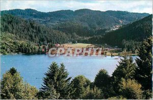Modern Postcard Gerardmer Vosges Pearl Lake and Camping Ramberchamp