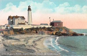 Pigeon Point Light House, Coast of California, Early Postcard, Unused