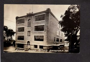 ME St Saint Andre School Ecole Biddeford Maine Real Photo RPPC Postcard Nuns