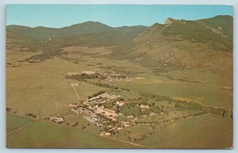 Postcard NM Cimarron Philmont Boy Scout Ranch Explorer Base Airview BSA O02