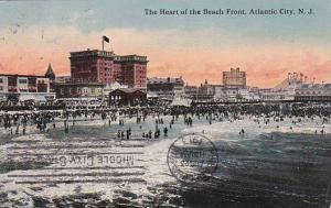 New Jersey Atlantic City The Heart Of The Beach Front 1918