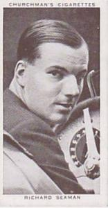 Churchman Vintage Cigarette Card Kings Of Speed Series No. 22 Richard Seaman ...