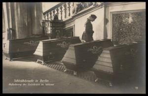 Germany 1918 Revolution Freikorps Funeral Berlin Castle SailorsRPPC 87345