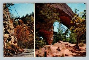 Daniel Boone National Forest KY-Kentucky, Sky Bridge, Chrome Postcard