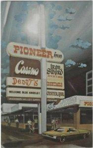 1960s postcard, The Pioneer Inn & Casino, Reno, Nevada