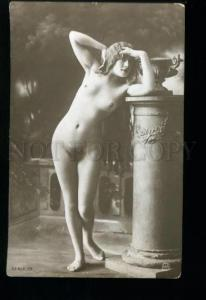 135553 NUDE Woman Belle LONG HAIR Vintage PHOTO JA #79 PC