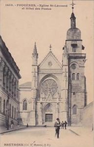 France Fougeres Eglise St Leonard et Hotel des Postes