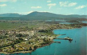 Air View of Sidney British Columbia BC Chrome Poscard
