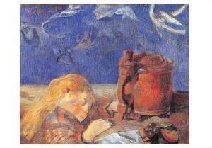 Gauguin Enfant Endormi, 1884 Huile sur Toile
