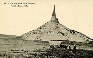 Ezra Meeker - North Platte, NE. Chimney Rock