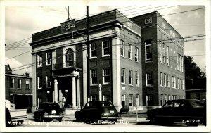 Vtg 1940s EKC RPPC Marion County Court House Lebanon KY ~1940s Street View Cars