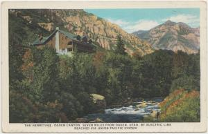 The Hermitage, Ogden Canyon, Utah 1920s unused Union Paci...