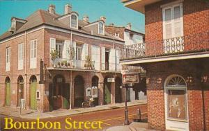 Louisiana New Orleans Bourbon Street and St Ann Street 1975