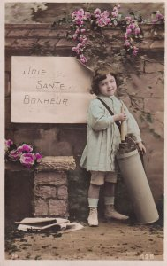 RP; PU-1908; Little Girl, Joie, Sante, Bonheur