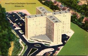 Georgia Atlanta Aerial View Of Darlington Apartments