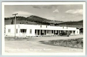 Hot Springs MT No Dogs in Office~Wagner Modern Apartments For Rent~RPPC 1940s