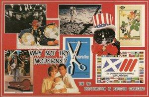 First Man On The Moon London Underground Busker Moderns Rare Postcard