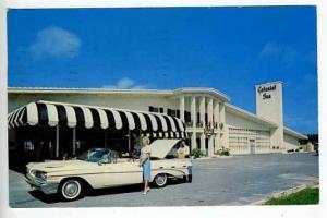 St Petersburg FL Inn Convertible Postcard
