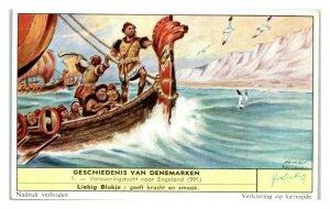 Conquest of England, History of Denmark Liebig Belgian Trade Card *VT28D